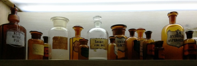 Medicine bottles, the exhibition in the Tower of David