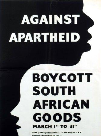 Poster that calls to Boycott south african goods (KRA\3719)