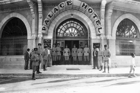 The entrance to the Palace Hotel , 1931 (PHO\1353371)