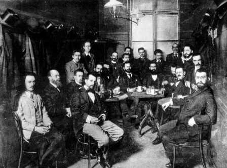 "The meeting in which it was decided to publish ""Die Welt"", Vienna 1897 (PHPS\1338335)"