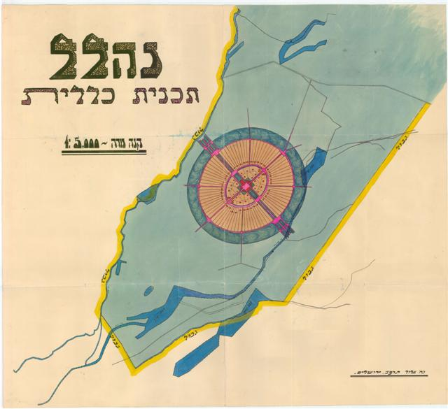 A map of Nahalal, 1922 (KL5M\6660)