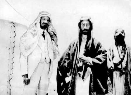 Emir Faisal and Chaim Weizmann (on the left)