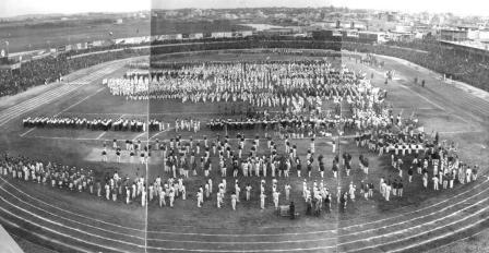 Opening ceremony of the second Maccabiah (PHAL\1624831)