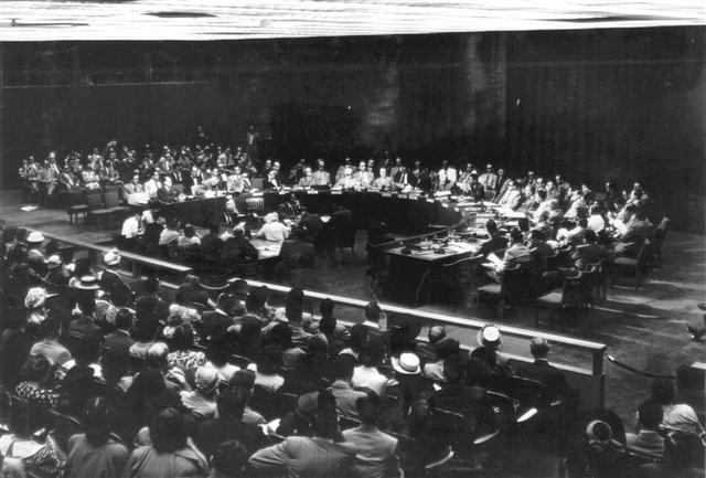 The UN general assembly on 29.11.1947, the day on which the Palestine partition plan was decided on. (PHPS\1340125)