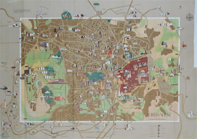 Tourism in Jerusalem – Jerusalem Tourist Map
