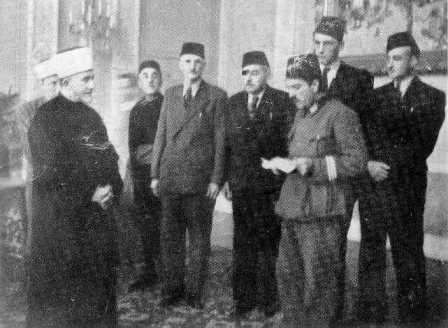 The Mufti recieves a Muslin delegation from Albania